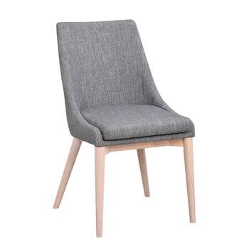 Scaun tapițat cu picioare gri deschis RowicoBea, gri imagine