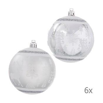 Set 6 decorațiuni de Crăciun Unimasa Deer, argintiu bonami.ro