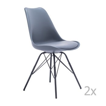 Set 2 scaune House Nordic Oslo, gri bonami.ro
