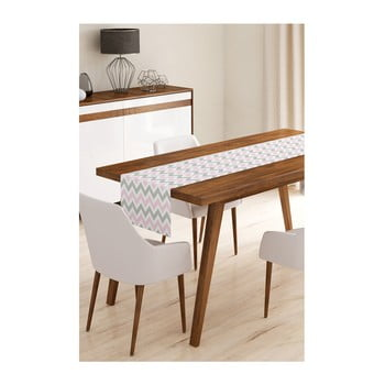 Napron din microfibră pentru masă Minimalist Cushion Covers Pinky Grey Stripes, 45x145cm bonami.ro