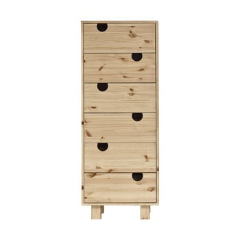 Comodă cu șase sertare Karup Design House Natural/Natural poza bonami.ro