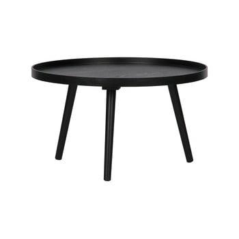 Masă de cafea WOOOD Mesa, Ø 60 cm, negru bonami.ro