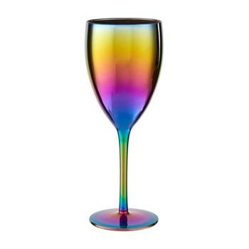 Set 4 pahare de vin cu efect de curcubeu Premier Housewares Rainbow, 473 ml poza bonami.ro