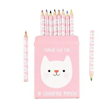 Set 10 creioane în husă cu model cu pisică Rex London bonami.ro