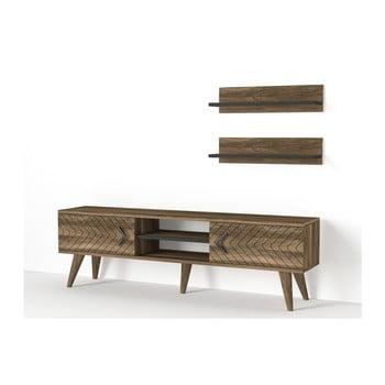 Set comodă TV și 2 rafturi de perete Tera Home Legato poza bonami.ro