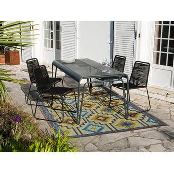 Set 1 masă și 4 scaune stivuibile de grădină Ezeis Clipper Modern imagine