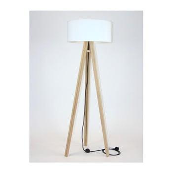 Lampadar cu abajur alb și cablu negru Ragaba Wanda imagine