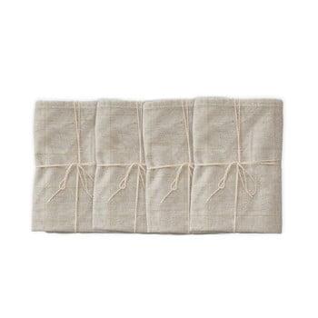 Set 4 șervețele textile Linen Couture Beige Lines, 43 x 43 cm bonami.ro