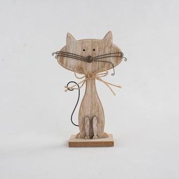 Decorațiune din lemn în formă de pisică Dakls Cats, înălțime 18cm bonami.ro