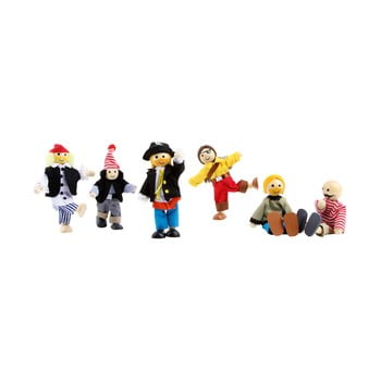 Set figurine din lemn și material textil Legler Pirates bonami.ro
