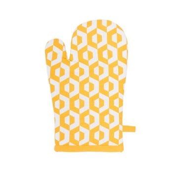 Șervet termic din bumbac Tiseco Home Studio Hexagon, galben bonami.ro