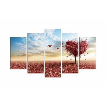 Tablou din mai multe piese Leaves From Heart, 110 x 60 cm bonami.ro