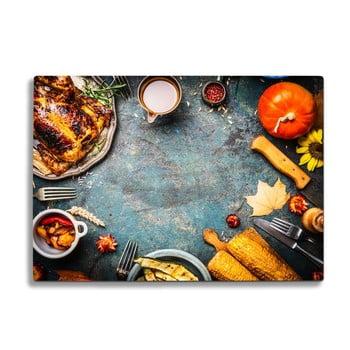 Tocător din sticlă Insigne thanksgiving poza bonami.ro
