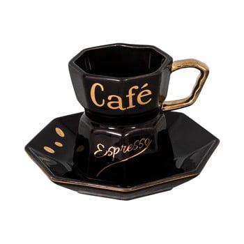 Ceașcă cu farfurioară Antic Line, negru bonami.ro