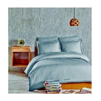 Lenjerie de pat din bumbac satinat cu cearșaf Blackburn, 160 x 220 cm imagine