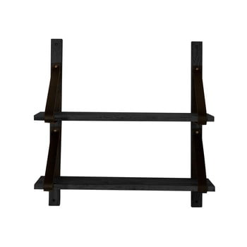 Raft din lemn de stejar Canett Uno, negru imagine
