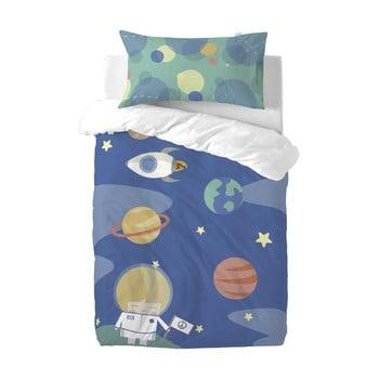 Lenjerie de pat din amestec de bumbac pentru copii Happynois Astronaut, 115x145cm bonami.ro
