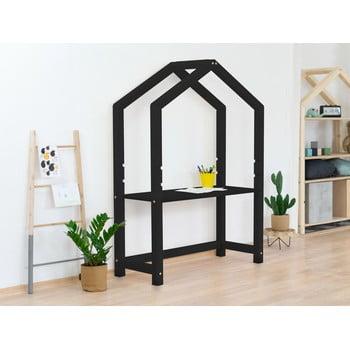 Birou din lemn în formă de casă Benlemi Stolly,39x97x133cm, negru bonami.ro