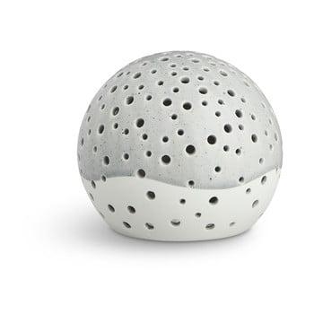 Sfeșnic din porțelan bone china Kähler Design Nobili, ⌀ 12 cm, gri poza bonami.ro