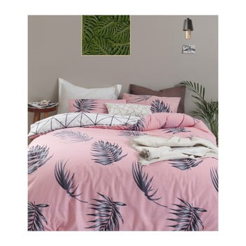 Lenjerie de pat din bumbac ranforce pentru pat de 1 persoană Mijolnir Barbara Pink, 140 x 200 cm bonami.ro