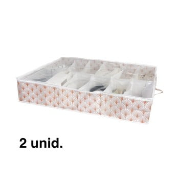Cutie de depozitare sub pat pentru pantofi Compactor Blush Range, 76 x 60 cm poza bonami.ro