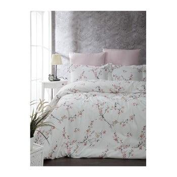 Lenjerie cu cearșaf din bumbac ranforce pentru pat dublu Jasmine, 200 x 220 cm bonami.ro