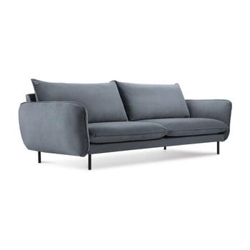Canapea țesătură catifea Cosmopolitan Design Vienna, 200 cm, gri imagine
