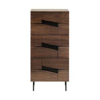 Dulap cu sertare La Forma Cutt, 60 x 40 cm, maro imagine