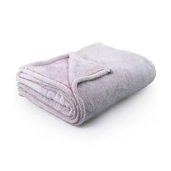 Pătură din microfibră DecoKing Fluff Powderpink, 220 x 240 cm, roz deschis bonami.ro