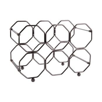 Suport pliabil din metal pentru sticle de vin PT LIVING Honeycomb, gri bonami.ro