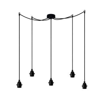 Lustră cu 5 cabluri Bulb Attack Uno Primary, negru poza bonami.ro