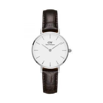 Ceas de damă Daniel Wellington Petite York, ⌀ 28 mm, alb-argintiu bonami.ro