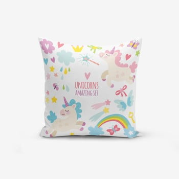 Față de pernă cu amestec din bumbac Minimalist Cushion Covers Unicorn Child, 45 x 45 cm bonami.ro