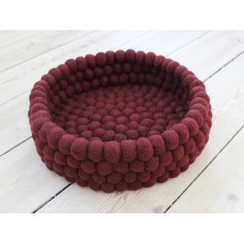 Coș depozitare cu bile din lână Wooldot Ball Basket, ⌀ 28 cm, vișiniu închis bonami.ro