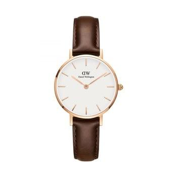 Ceas de damă Daniel Wellington Petite Bristol, ⌀ 28 mm, alb-roz auriu bonami.ro