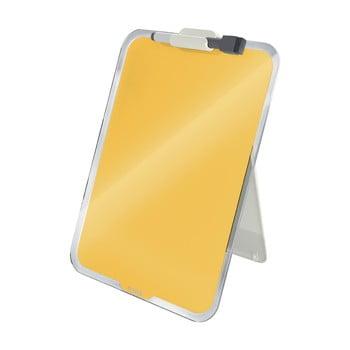 Flip-chart din sticlă pentru birou Leitz Cosy, 22 x 30 cm, galben poza bonami.ro