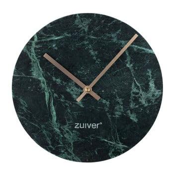 Ceas de perete din marmură Zuiver Marble Time, verde poza bonami.ro