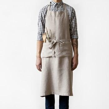 Șorț din in Linen Tales Chef, lungime 100cm, bej bonami.ro