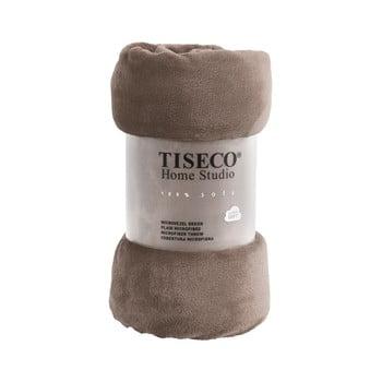 Pătură din micropluș Tiseco Home Studio,150x200cm, maro bonami.ro