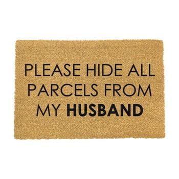 Covoraș intrare din fibre de cocos Artsy Doormats Please Hide, 40 x 60 cm bonami.ro