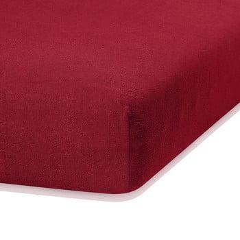 Cearceaf elastic AmeliaHome Ruby, 200 x 160-180 cm, roșu închis poza bonami.ro