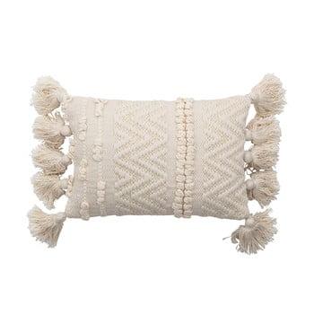 Pernă decorativă Bloomingville Cotton,20x35cm, alb poza bonami.ro