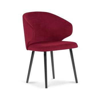Scaun cu tapițerie de catifea Windsor & Co Sofas Nemesis, roșu bonami.ro