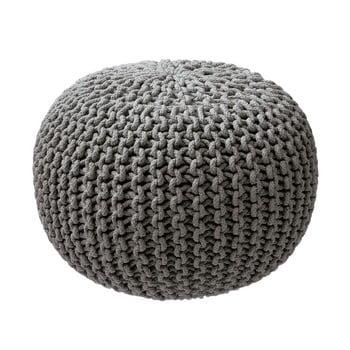 Puf tricotat ZicZac, gri imagine