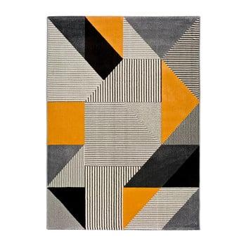 Covor Universal Gladys Duro, 200 x 290 cm, portocaliu-gri imagine