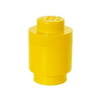 Cutie depozitare rotundă LEGO®, galben, ⌀ 12,5 cm bonami.ro