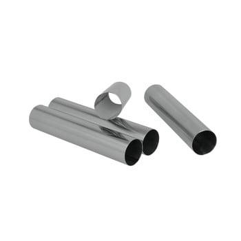 Set 4 suporturi metalice pentru rulouri Metaltex, lungime 12,5 cm bonami.ro