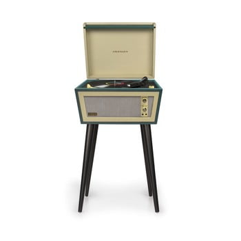 Pick-up cu suport negru Crosley Sterling Green, verde poza bonami.ro