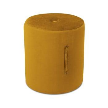 Puf Mazzini Sofas Fiore, ⌀ 40 cm, portocaliu poza bonami.ro