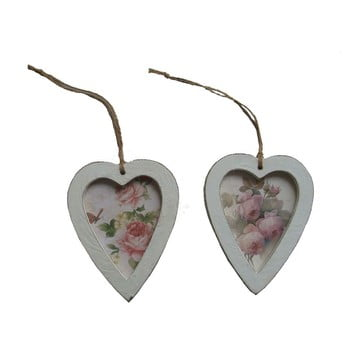 Set 2 inimi decorative de agățat Antic Line bonami.ro